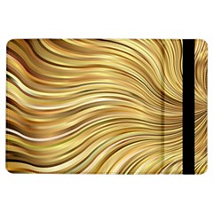 Chic Festive Gold Brown Glitter Stripes Ipad Air Flip by yoursparklingshop