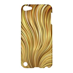 Gold Stripes Festive Flowing Flame  Apple Ipod Touch 5 Hardshell Case by yoursparklingshop