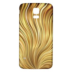 Gold Stripes Festive Flowing Flame  Samsung Galaxy S5 Back Case (White) by yoursparklingshop
