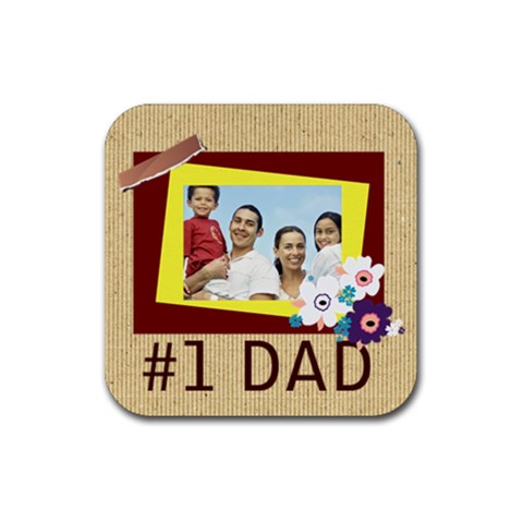 Dad By Dad   Rubber Coaster (square)   Nraqs67xi1gh   Www Artscow Com Front