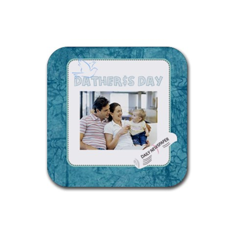 Dad By Dad   Rubber Coaster (square)   Zvb3cypao4ul   Www Artscow Com Front