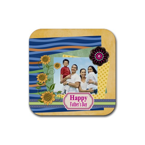 Dad By Dad   Rubber Coaster (square)   2vdn9gw2i6e3   Www Artscow Com Front