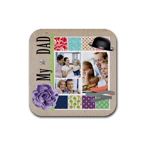 Dad By Dad   Rubber Coaster (square)   1nao5vifhunf   Www Artscow Com Front