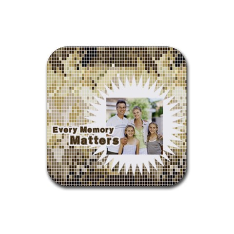 Dad By Dad   Rubber Coaster (square)   Rfms05pmsiep   Www Artscow Com Front