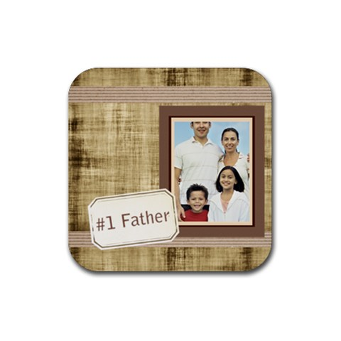 Dad By Dad   Rubber Coaster (square)   7cc6rbaqdjai   Www Artscow Com Front