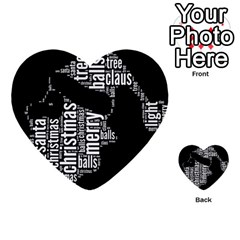 Funny Santa Black And White Typography Multi Purpose Cards (heart)  by yoursparklingshop