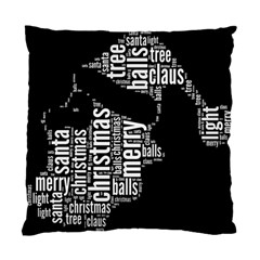 Funny Santa Black And White Typography Standard Cushion Case (two Sides) by yoursparklingshop