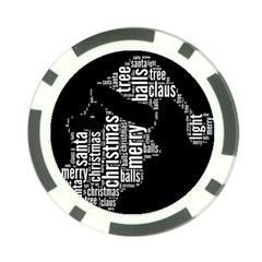 Funny Santa Black And White Typography Poker Chip Card Guards (10 Pack)  by yoursparklingshop