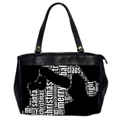 Funny Santa Black And White Typography Office Handbags (2 Sides)  by yoursparklingshop