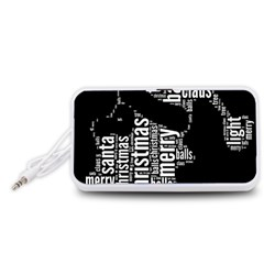 Funny Santa Black And White Typography Portable Speaker (white)  by yoursparklingshop