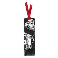 Funny Santa Black And White Typography Small Book Marks by yoursparklingshop