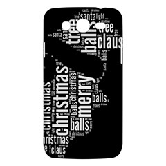 Funny Santa Black And White Typography Samsung Galaxy Mega 5 8 I9152 Hardshell Case  by yoursparklingshop