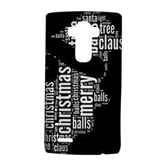Funny Santa Black And White Typography Lg G4 Hardshell Case by yoursparklingshop