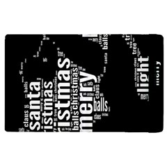 Funny Merry Christmas Santa, Typography, Black And White Apple Ipad 2 Flip Case by yoursparklingshop
