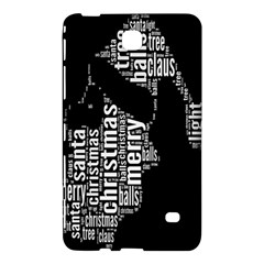 Funny Merry Christmas Santa, Typography, Black and White Samsung Galaxy Tab 4 (7 ) Hardshell Case  by yoursparklingshop