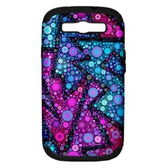 Blues Bubble Love Samsung Galaxy S Iii Hardshell Case (pc+silicone) by KirstenStar