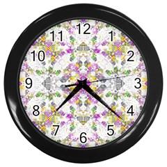 Geometric Boho Chic Wall Clocks (black) by dflcprints