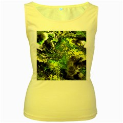 Amazing Fractal 27 Women s Yellow Tank Top by Fractalworld