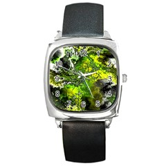 Amazing Fractal 27 Square Metal Watch by Fractalworld