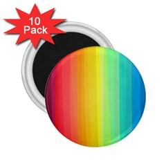 Sweet Colored Stripes Background 2 25  Magnets (10 Pack)  by TastefulDesigns