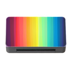 Sweet Colored Stripes Background Memory Card Reader With Cf by TastefulDesigns