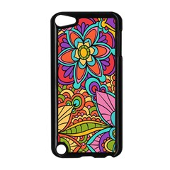 Festive Colorful Ornamental Background Apple Ipod Touch 5 Case (black) by TastefulDesigns