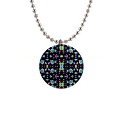 Multicolored Galaxy Pattern Button Necklaces by dflcprints
