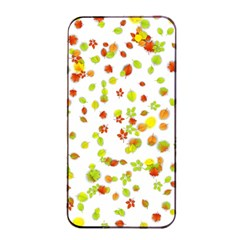 Colorful Fall Leaves Background Apple Iphone 4/4s Seamless Case (black) by TastefulDesigns