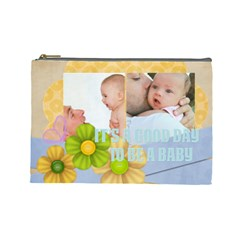Baby By Baby   Cosmetic Bag (large)   3dsqm0nin78s   Www Artscow Com Front