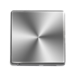 Shiny Metallic Silver Memory Card Reader (square) by yoursparklingshop