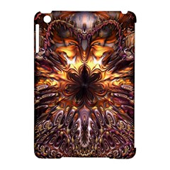 Golden Metallic Abstract Flower Apple Ipad Mini Hardshell Case (compatible With Smart Cover) by CrypticFragmentsDesign