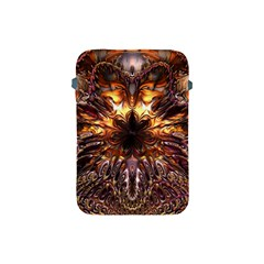 Golden Metallic Abstract Flower Apple Ipad Mini Protective Soft Cases by CrypticFragmentsDesign