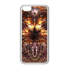 Golden Metallic Abstract Flower Apple Iphone 5c Seamless Case (white) by CrypticFragmentsDesign