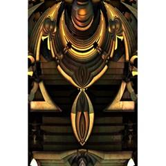 Golden Metallic Geometric Abstract Modern Art 5 5  X 8 5  Notebook by CrypticFragmentsDesign