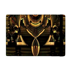 Golden Metallic Geometric Abstract Modern Art Apple Ipad Mini 2 Flip Case by CrypticFragmentsDesign