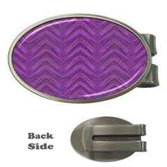 Grunge Chevron Style Money Clips (Oval)  by dflcprints