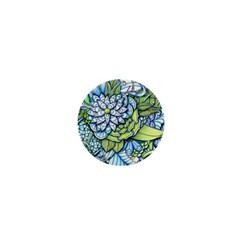 Peaceful Flower Garden 1 1  Mini Button by Zandiepants