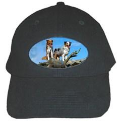 2 Australian Shepherds Black Cap by TailWags