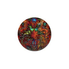 Boho Bohemian Hippie Floral Abstract Golf Ball Marker (4 Pack) by CrypticFragmentsDesign