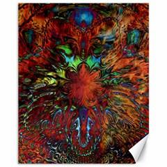 Boho Bohemian Hippie Floral Abstract Canvas 11  X 14   by CrypticFragmentsDesign