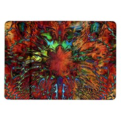 Boho Bohemian Hippie Floral Abstract Samsung Galaxy Tab 10 1  P7500 Flip Case by CrypticFragmentsDesign