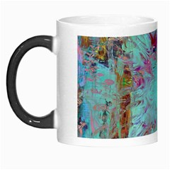 Retro Hippie Abstract Floral Blue Violet Morph Mugs by CrypticFragmentsDesign