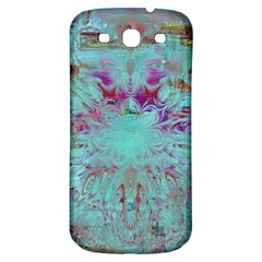 Retro Hippie Abstract Floral Blue Violet Samsung Galaxy S3 S Iii Classic Hardshell Back Case by CrypticFragmentsDesign