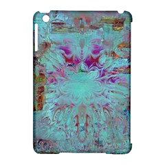 Retro Hippie Abstract Floral Blue Violet Apple Ipad Mini Hardshell Case (compatible With Smart Cover) by CrypticFragmentsDesign