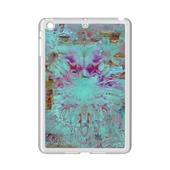 Retro Hippie Abstract Floral Blue Violet Ipad Mini 2 Enamel Coated Cases by CrypticFragmentsDesign