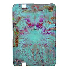 Retro Hippie Abstract Floral Blue Violet Kindle Fire Hd 8 9  by CrypticFragmentsDesign