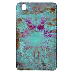 Retro Hippie Abstract Floral Blue Violet Samsung Galaxy Tab Pro 8 4 Hardshell Case by CrypticFragmentsDesign