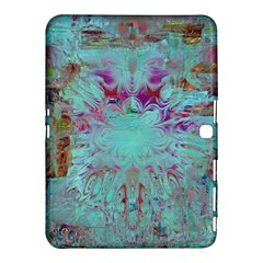 Retro Hippie Abstract Floral Blue Violet Samsung Galaxy Tab 4 (10 1 ) Hardshell Case  by CrypticFragmentsDesign