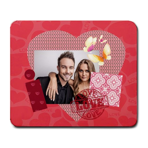 Love Story By Love   Large Mousepad   3c0kw53z9zzo   Www Artscow Com Front