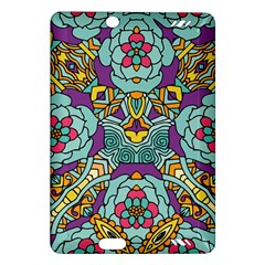 Mariager - Bold blue,purple and yellow flower design Amazon Kindle Fire HD (2013) Hardshell Case by Zandiepants